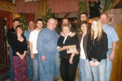 Vonda Renfrow presented Life Time Achievement to Sutter Fami
